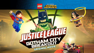 Netflix box art for LEGO: Justice League: Gotham City Breakout