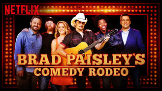 Netflix box art for Brad Paisley's Comedy Rodeo