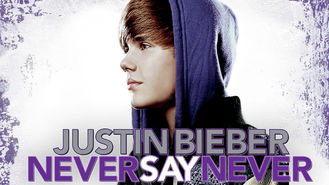 Netflix box art for Justin Bieber: Never Say Never