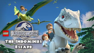 Netflix box art for LEGO Jurassic World: The Indominus Escape