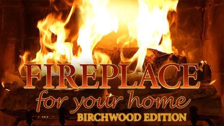Fireplace 4K: Crackling Birchwood